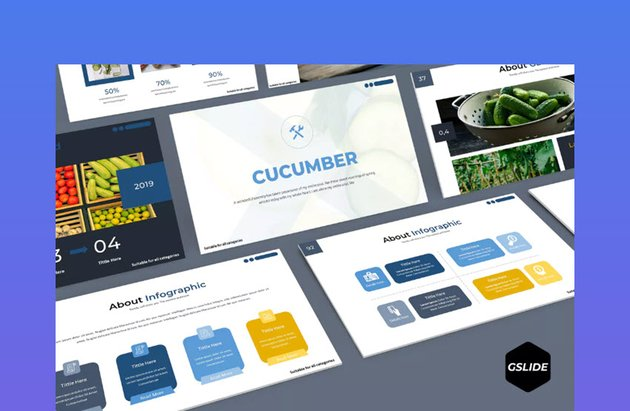 Cucumber Google Slides Template