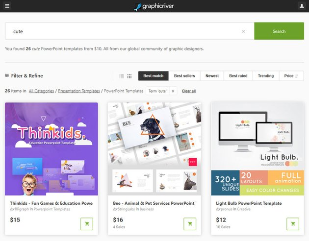 Cute PowerPoint Templates GraphicRiver