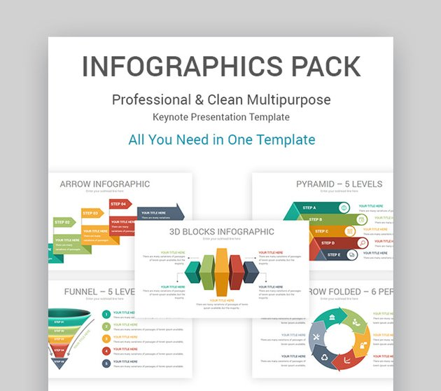 Keynote Infographics Pack Template