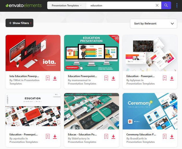 Education PPT Templates from Envato Elements
