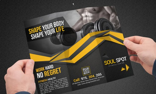 Fitness Brochure with CTA