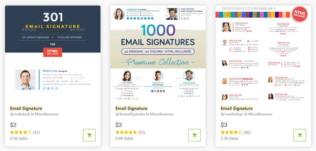 GraphicRiver email signature templates