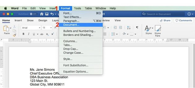 Format Document in Word