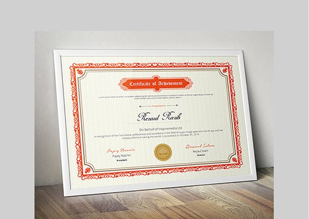 Certificate of Achievement Template for Word