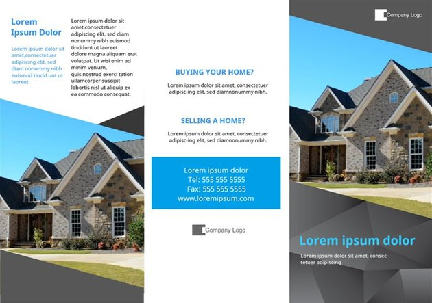 Free Estate Agency Printable Brochure Template