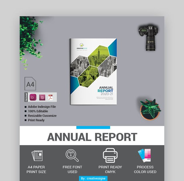 High-Quality Nonprofit Annual Report Design Template