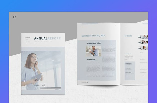 Egotype Nonprofit Annual Report Template