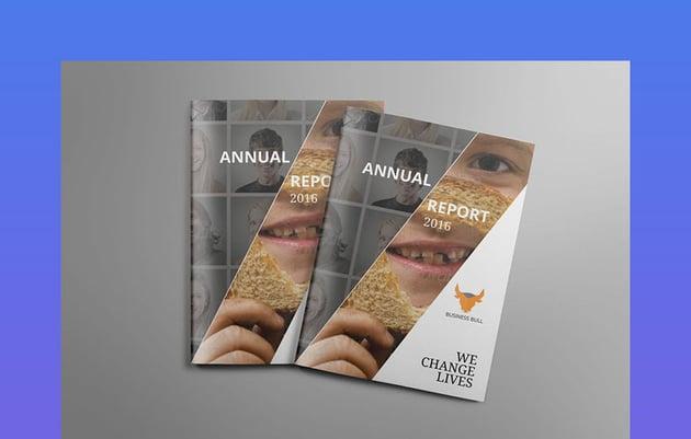 InDesign Annual Report Design