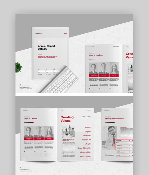 Annual Report Layout InDesign