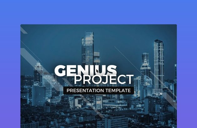 Genius Project Agenda PPT Slide Presentation Template