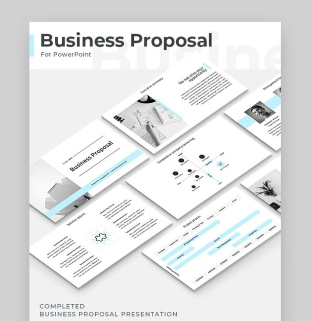 modern business proposal powerpoint examples