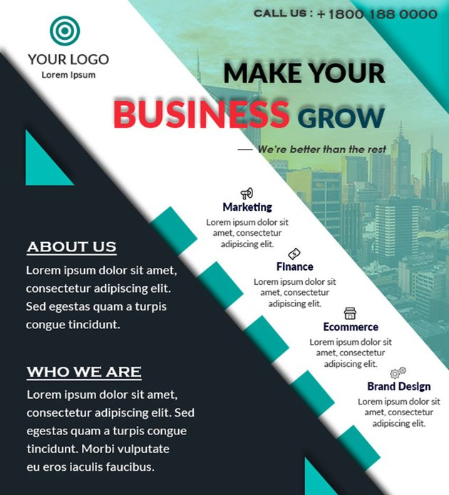 Free Printable Flyer Design Template Modern Business Promotional