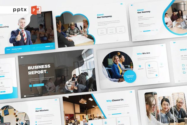 BUSINESS REPORT - PowerPoint V257