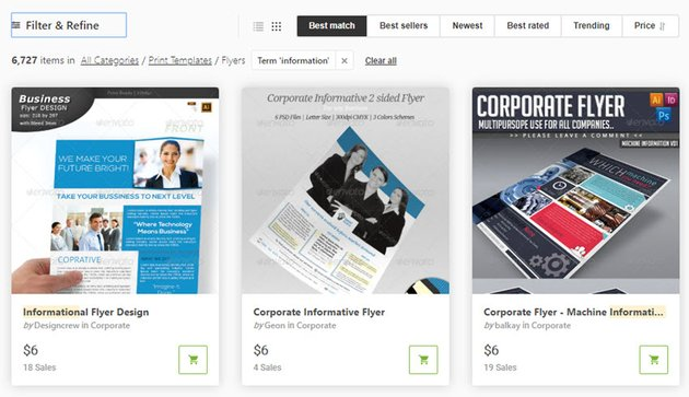 Business Informational Flyers on GraphicRiver
