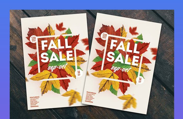 Fall Sale Flyer Poster