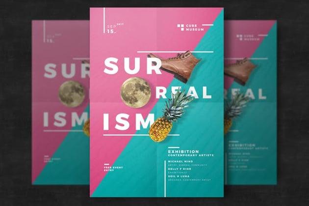 Broken Text Flyer Design Ideas