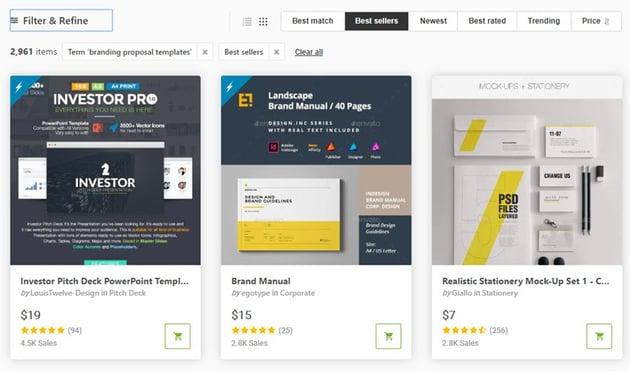 Proposal Design Ideas on GraphicRiver