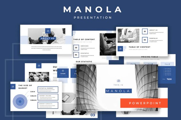 Manola Best Pitch Deck Powerpoint Presentation Template