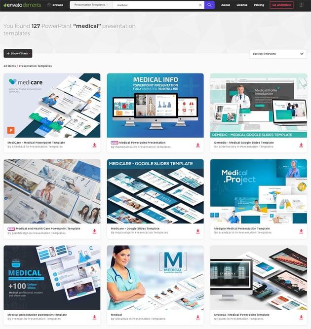 Envato Elements Medical PowerPoint Templates