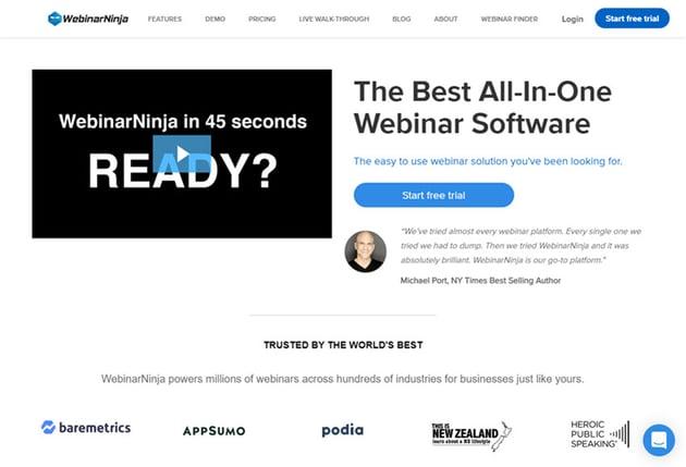 WebinarNinja-Online-Webinar