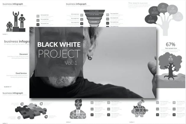 Black White Project Presentation Template