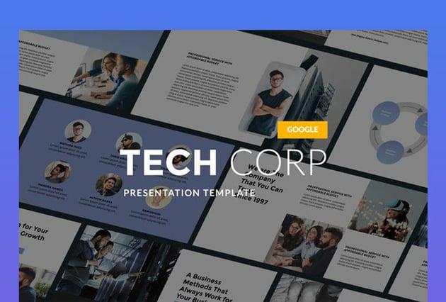 Tech Corp - Modern Google Slides Template