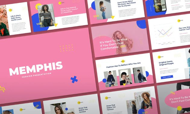 Creative Google Slides Theme Memphis