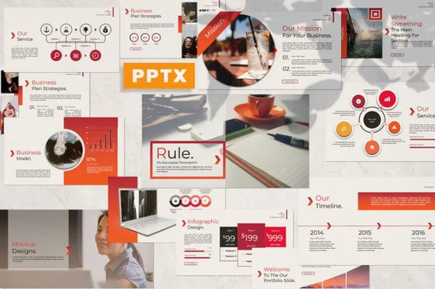Rule Aesthetic Google Slides Template