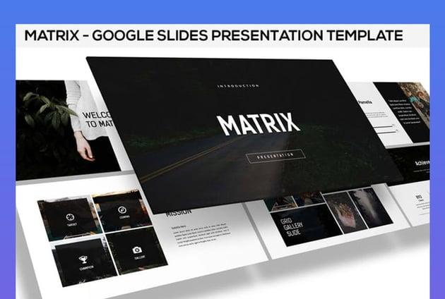 Matrix Google Slides Presentation
