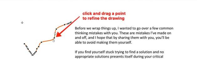 Word drawings - Edit points