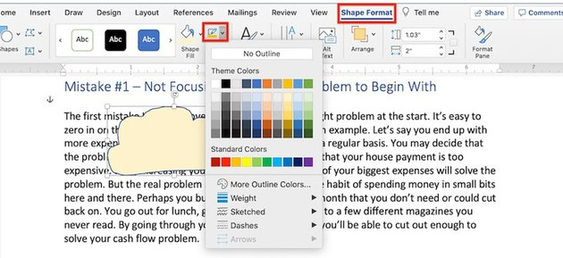 How to Draw in Word - Scribble Shape Outline