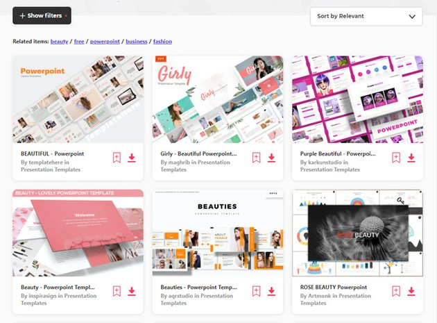 Beautiful PowerPoint Templates Elements