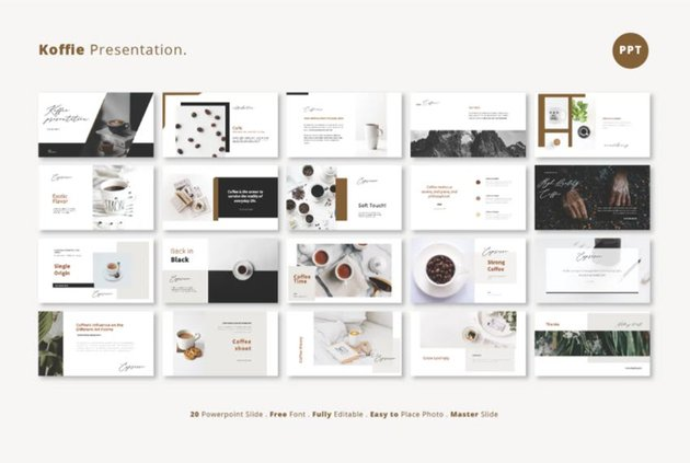 Envato Coffee Presentation for PowerPoint