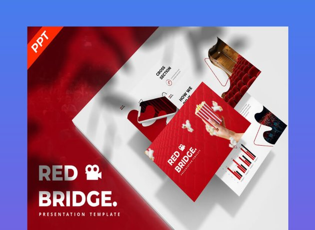 Red Bridge Cinema PowerPoint Template
