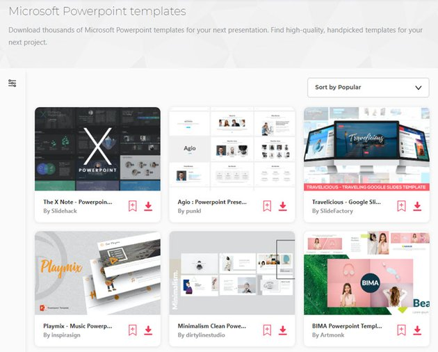 Unique and interesting PowerPoint templates on Envato Elements
