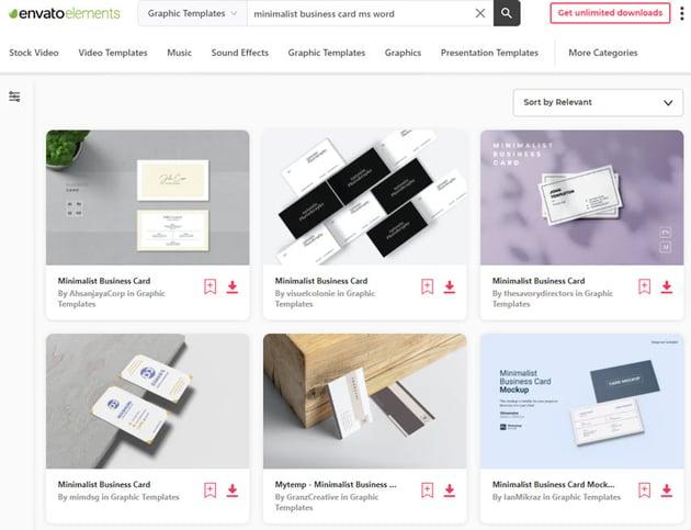 Envato Elements Business Card Templates