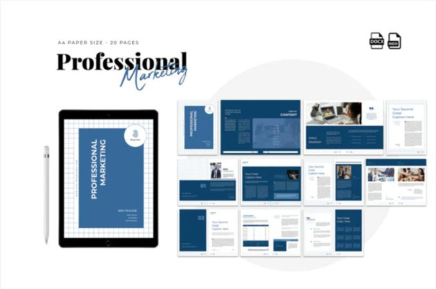 Professional Marketing Proposal in Word