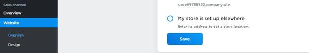 Ecwid website tab