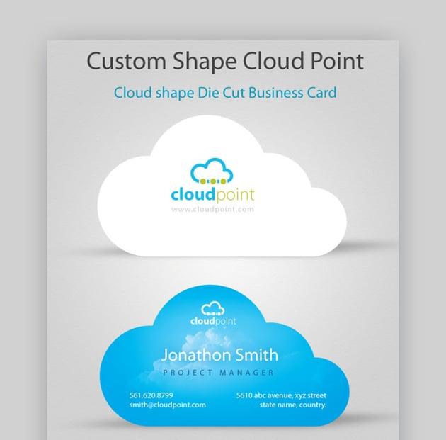 creative die cut business card template