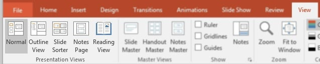 PowerPoint View Presentation Views