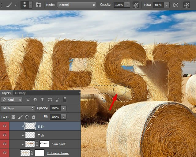 Add Additional Shadows on Letters