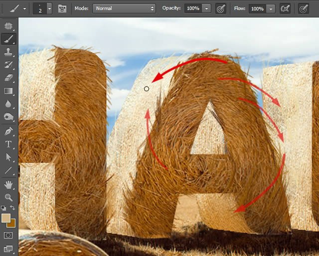 Paint Stray Strands of Hay