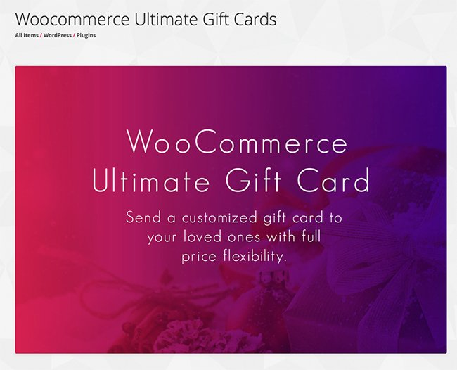Woocommerce Ultimate Gift Cards