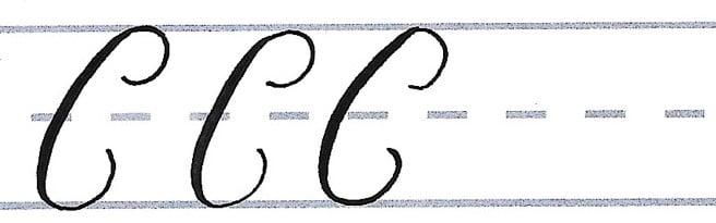 roundhand script - uppercase c multiples