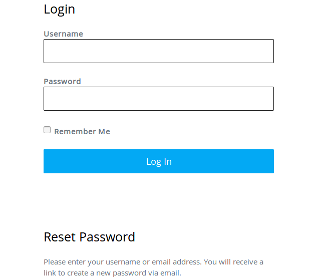custom login and access