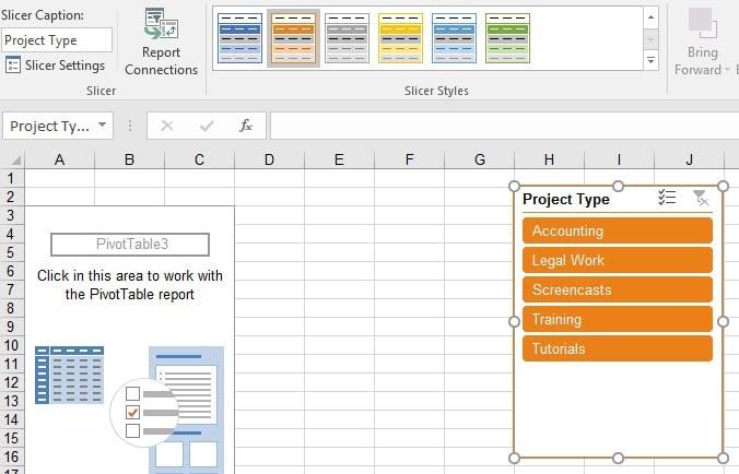 Excel Slicer color