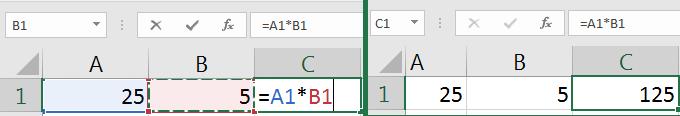 Excel formula format