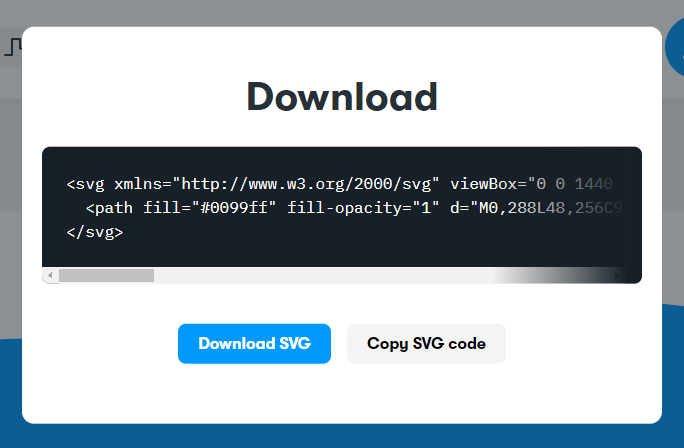 The generated SVG code