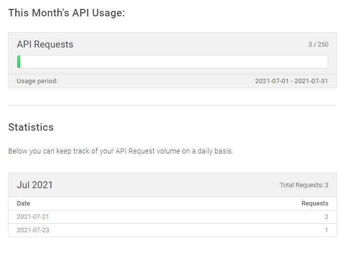 Mailboxlayer API usage