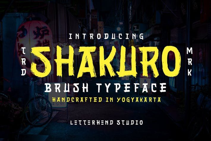 Shakuro Font from Envato Elements recommendation